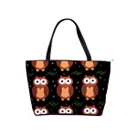 Halloween brown owls  Shoulder Handbags Front