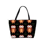 Halloween brown owls  Shoulder Handbags Back