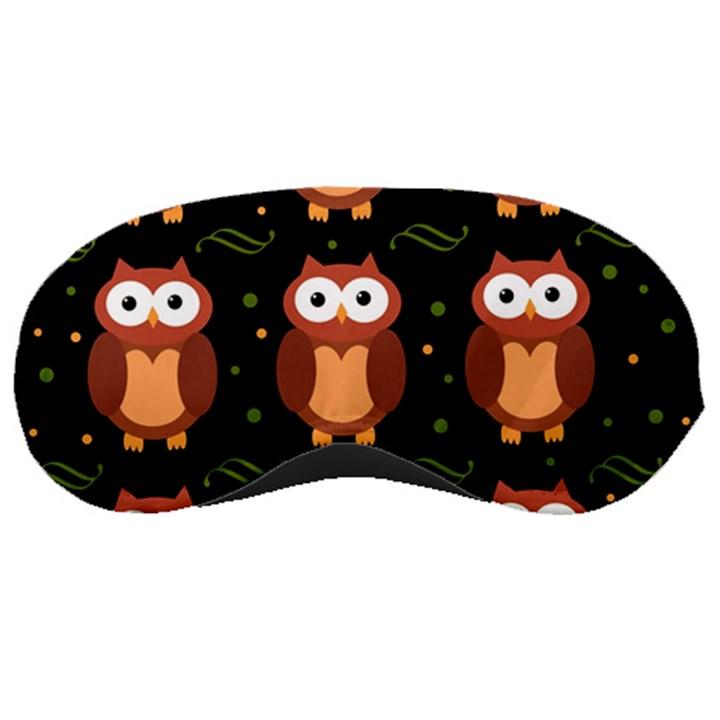 Halloween brown owls  Sleeping Masks