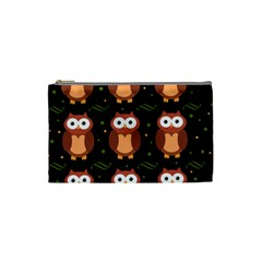 Halloween Brown Owls  Cosmetic Bag (small)
