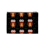 Halloween brown owls  Cosmetic Bag (Medium)  Back