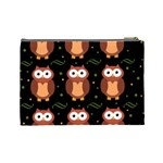Halloween brown owls  Cosmetic Bag (Large)  Back