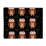 Halloween brown owls  Cosmetic Bag (XL) Front