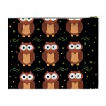 Halloween brown owls  Cosmetic Bag (XL) Back