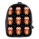 Halloween brown owls  School Bags(Large)  Front
