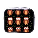 Halloween brown owls  Mini Toiletries Bags Front