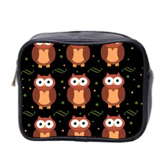 Halloween brown owls  Mini Toiletries Bag 2-Side