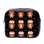 Halloween brown owls  Mini Toiletries Bag 2-Side Front