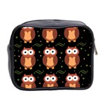 Halloween brown owls  Mini Toiletries Bag 2-Side Back