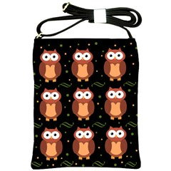 Halloween brown owls  Shoulder Sling Bags