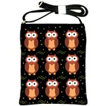 Halloween brown owls  Shoulder Sling Bags Front