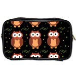 Halloween brown owls  Toiletries Bags Front