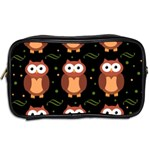 Halloween brown owls  Toiletries Bags 2-Side Back