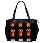 Halloween brown owls  Office Handbags Front