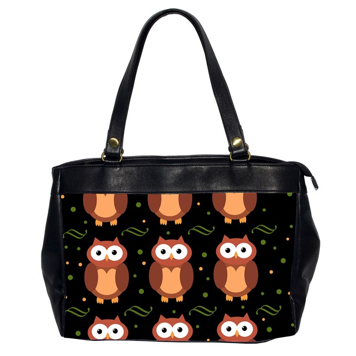 Halloween brown owls  Office Handbags (2 Sides)
