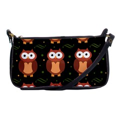Halloween brown owls  Shoulder Clutch Bags