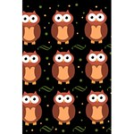 Halloween brown owls  5.5  x 8.5  Notebooks Back Cover Inside