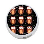 Halloween brown owls  4-Port USB Hub (One Side) Front