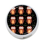 Halloween brown owls  4-Port USB Hub (Two Sides)  Back