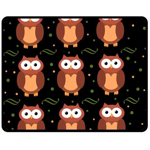 Halloween brown owls  Fleece Blanket (Medium)