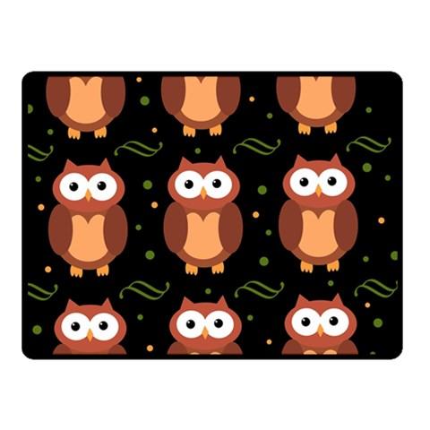 Halloween brown owls  Fleece Blanket (Small)