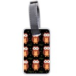 Halloween brown owls  Luggage Tags (One Side)  Front