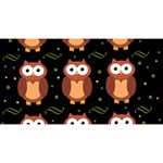 Halloween brown owls  Magic Photo Cubes Long Side 1