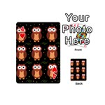 Halloween brown owls  Playing Cards 54 (Mini)  Front - Heart4