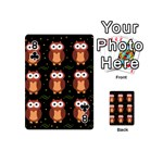 Halloween brown owls  Playing Cards 54 (Mini)  Front - Club8