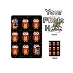 Halloween brown owls  Playing Cards 54 (Mini)  Front - ClubQ