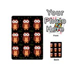 Halloween brown owls  Playing Cards 54 (Mini)  Back