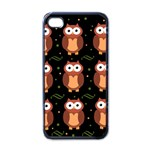 Halloween brown owls  Apple iPhone 4 Case (Black) Front