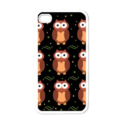 Halloween brown owls  Apple iPhone 4 Case (White)