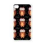 Halloween brown owls  Apple iPhone 4 Case (White) Front