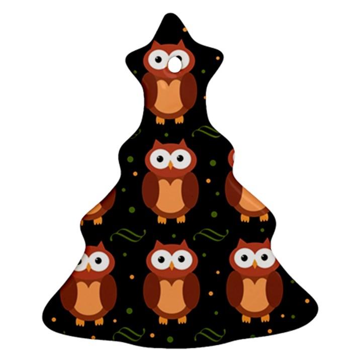 Halloween brown owls  Ornament (Christmas Tree)