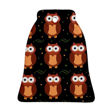 Halloween brown owls  Ornament (Bell)