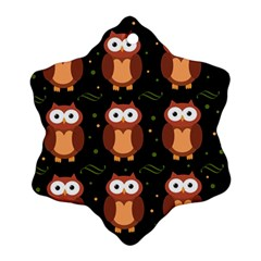 Halloween Brown Owls  Snowflake Ornament (2 Side)
