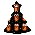 Halloween brown owls  Christmas Tree Ornament (2 Sides) Front