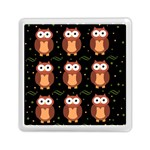 Halloween brown owls  Memory Card Reader (Square)  Front