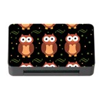 Halloween brown owls  Memory Card Reader with CF Front