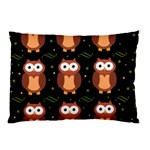 Halloween brown owls  Pillow Case (Two Sides) Back