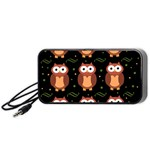 Halloween brown owls  Portable Speaker (Black)  Front