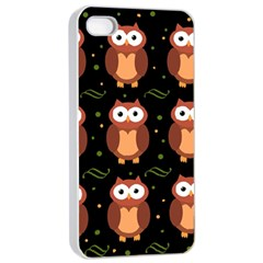 Halloween brown owls  Apple iPhone 4/4s Seamless Case (White)