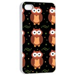 Halloween brown owls  Apple iPhone 4/4s Seamless Case (White) Front