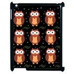 Halloween brown owls  Apple iPad 2 Case (Black) Front