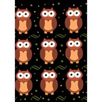 Halloween brown owls  Miss You 3D Greeting Card (7x5) Inside