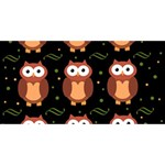 Halloween brown owls  Happy New Year 3D Greeting Card (8x4) Front
