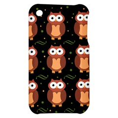 Halloween brown owls  Apple iPhone 3G/3GS Hardshell Case