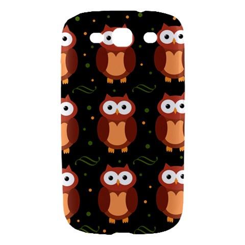Halloween brown owls  Samsung Galaxy S III Hardshell Case