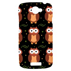 Halloween brown owls  HTC One S Hardshell Case